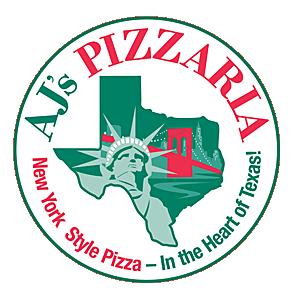 AJ's Pizzaria logo/Cedar Park, TX