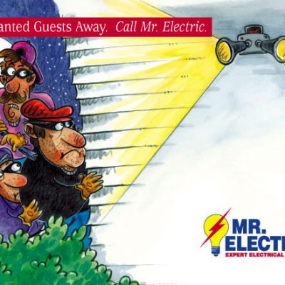 Postcard design for Mr. Electric franchisees/Waco, TX