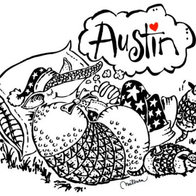 Austin Convention & Visitors Bureau promotional art