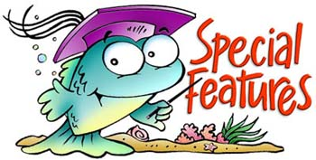 One of a series of educational fish characters created for Steck-Vaughan Publishers