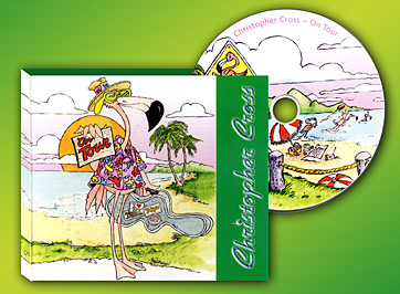 Christopher Cross/CD design based on tour book illustrations