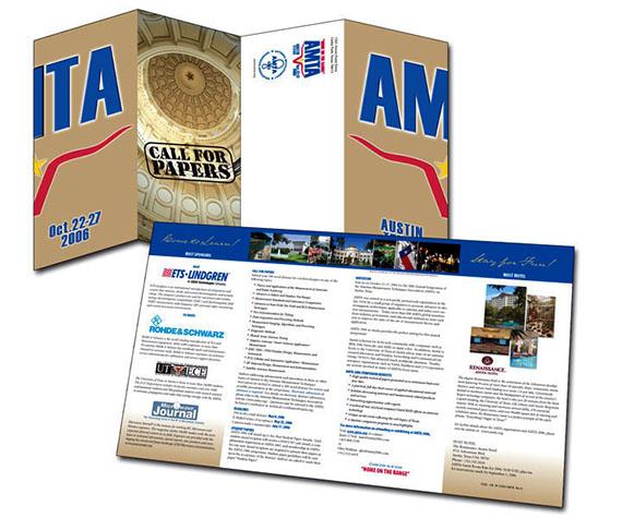 ETS-Lindgren gatefold brochure for AMTA/Austin, TX