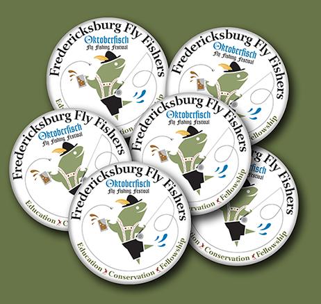Fredericksburg, TX Flyfishers promotinal buttons