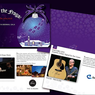 Texas Christian University fundraiser catalogue design/Fort Worth, TX