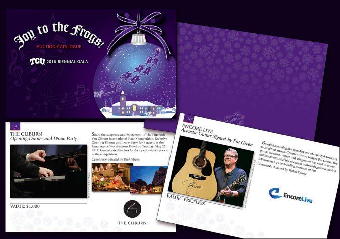 Texas Christian University fundraiser catalogue design/Fort Worth, TX