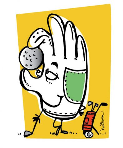 Golf tournament illustraton/Austin, TX